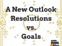 A New OutlookResolutions vs. Goals