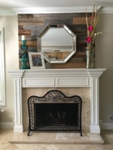 Heather Moulden Reclaimed Wood Fireplace