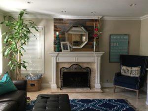 Reclaimed Wood Fireplace