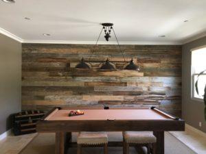Reclaimed Wood Game Room