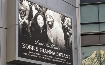 Unexpected Tragedy: Kobe Bryant Staples Center Memorial Marquee