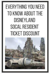 Disneyland SoCal Resident Ticket Discount