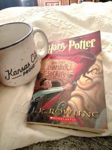 mama dentist reads Harry Potter