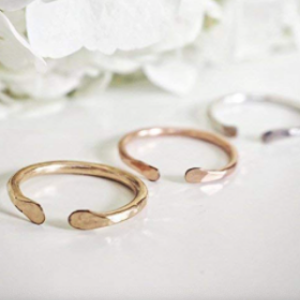 Hammered Open Cuff Ring