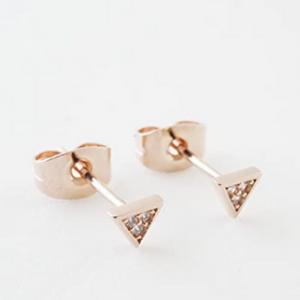 Crystal Triangle Studs