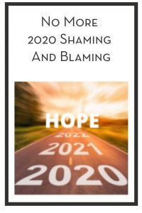 No More 2020 Shaming And Blaming PIN