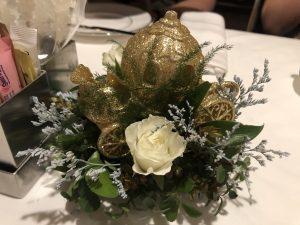 Flowers at Cinderella Themed Afternoon Tea at Disneyland Hotel