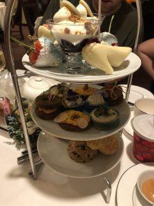 Adult food at Cinderella Themed Afternoon Tea at Disneyland Hotel