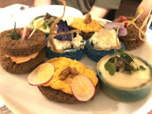Adult sandwiches at Cinderella Themed Afternoon Tea at Disneyland Hotel