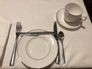 Place Setting at Cinderella Themed Afternoon Tea at Disneyland Hotel