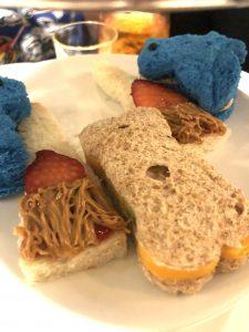 Children's Sandwiches at Cinderella Themed Afternoon Tea at Disneyland Hotel