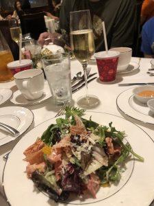 Salad at Cinderella Themed Afternoon Tea at Disneyland Hotel