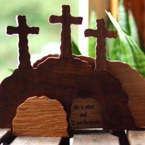 Handmade Easter Scene