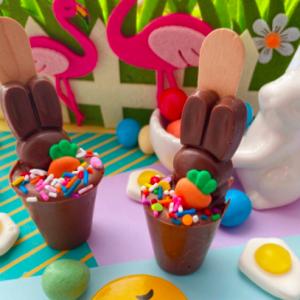bunny chocolate stirrers
