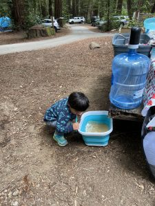 One of the top camping tips - bring a water dispenser